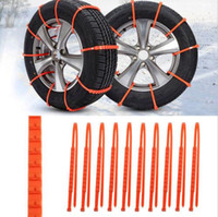 Wholesale Wheels Wholesale Prices - Hot 10Pcs set Winter Anti-skid Chains Car Truck SUV Snow Wheel Tyre Tire Thickened Tendon Wholesale Best Price