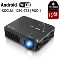 Al por mayor- CAIWEI Soporte 1080P HD Home Theater Projector Wifi Android TV Película HDMI VGA USB LCD Display para Smart Phone Tablet PC DVD AV