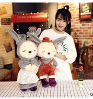 Wholesale Love Toys Couples - The new 2017 girl love couples rabbit plush toy dolls bunny pillow corporate gifts wholesale customize logo