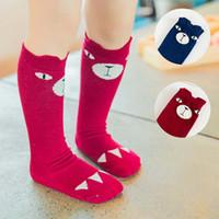 Wholesale Wholesale Korean Infant Clothes - Best Socks Children Clothes Infant Clothing Korean Baby Sock 2015 Autumn Crochet Socks For Kids Child Boys Girls Knit Knee High Socks C13467
