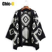 Wholesale V Com - Wholesale- Women Cardigan Long Sleeve Short Style Geometric Flower Black Autumn Winter Fashion Sweater Feminino Plus Size Com Renda