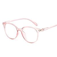 rosa rahmen brillen großhandel-Korean Fashion Klare Gläser Rahmen Anti Blau Licht Gläser Frauen Gefälschte Gläser Rosa Optische Brillen Rahmen Transparent Oculos