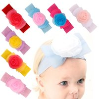 Xmas Baby Bubble Rose Headband Kids Kids Girl Мягкая ткань Turban Head Wrap Мягкая лента для волос Band Heads 7 цветов