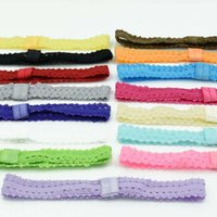Wholesale Elastic Ribbon Braided - 45pcs baby headbands elastic headband baby girls hair accessories lace headband white headband hair band