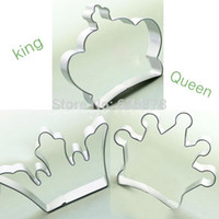 Wholesale Metal Cake Cutter - 3 style Crown special party baking biscuit cookie cutter set cake decorating tools Free Shipping order<$18no track