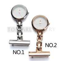 Wholesale Cross Pins - Teboer Jewelry 2pcs Red Cross White Dial Quartz Pin Brooch Nurse Pocket Watch LPW628