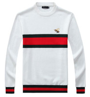 Wholesale crochet animals free online - new high quality pullover men men sweaters Brand sweater Slim Jumpers pullover jerseys men O Neck size M XXL
