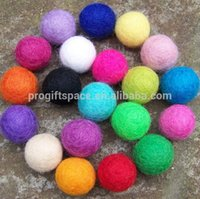 Wholesale Bead Craft Ball - Free Shipping 2014 New Fashion Craft Mixed Color Handmade 20mm Wool Felt Dryer Balls for Rugs Jewelry Beads DIY Home Decor