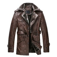 Wholesale Genuine Leather Parka - Fall-2016 New Brand Men Genuine Leather fur wool Jacket Coat Man PU Leather Parka Male Outwear Plus Big Size 3XL jaqueta de couro