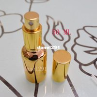 Wholesale Imports Perfumes - 2015 hot Freeshipping 50ml spray bottle of imported high-grade gold glass oil bottles perfume bottles spray bottle points bottling fine mist