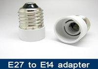 Wholesale E14 Adaptors - E27 to E14 Lamp Holder Bases Converter Socket Light Bulb Lamp Holder Adapter Plug Extender ES to SES free shipping E27 to E14 adaptor