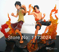 Gros-2pcs Vogue Japon Anime One Piece DX Brotherhood D Luffy Et Singe Ace PVC Bataille Figurines Jouets New In Box