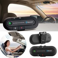 Universal Três Idiomas Sun Visor Wireless carro Bluetooth V3.0 Speakerphone Multiponto Speakerphone Mãos livres Speakerphone Car Kit