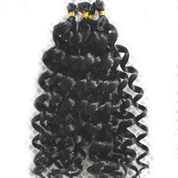 Wholesale U Tip Blonde Curly Extensions - Blonde nail U Tip Hair Extensions 1g s 200g Non-Remy Brazilian Human Hair 613 kinky curly pre bonded hair extensions curly 200g