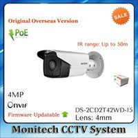 Wholesale ip camera outdoor wdr - HIK English Version DS-2CD2T42WD-I5 4mm IP Camera 4MP IR 50m Outdoor IP66 WDR EXIR POE Network CCTV Security Camera ONVIF