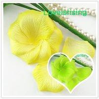 rosenblättern zum verkauf großhandel-Hot Verkauf - 5 Packungen (720pcs) Gelb Non-Woven Stoff künstliche Rose Blume Blütenblatt für Hochzeitsfest-Bevorzugungs-Dekor
