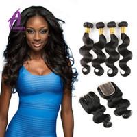 несравненные волосы оптовых-Peerless девственные волосы перуанская объемная волна с закрытием 7A перуанский переплетения тела с закрытием человеческих волос перуанский переплетения тела на продажу