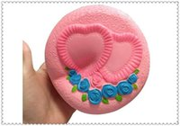 Wholesale Love Toy Heart - wholesale 12CM Jumbo Squishy Cake Bread Love Heart Rose Flowers Slow Rising Toy Gift wholesale