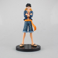 Wholesale One Piece Ships Figurines - Japan anime One Piece Jeans luffy PVC Action Figure Figurine Resin Collection Model Toy approx 17cm free shipping