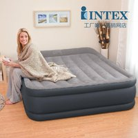 Wholesale Intex double person air beds set in Bedroom Furniture inflatable bed size cm cm cm include repair patch