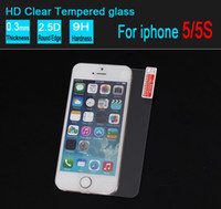 Wholesale Iphone 4s Scratch Guard - 2.5D Tempered Glass For Iphone 5 5s Screen Protector 0.26mm Explosion Proof Film Guard For iphone 4 4s without retail box 500pcs