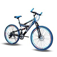 Wholesale Blue Disc Brake - V Brake Shift Car 26-Inch High-Carbon Steel Mountain Bike Double Disc Damping Outdoor Bike Sell Like Hot Cakes