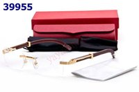 Wholesale Good Spectacles - rimless glasses eyeglass frames health&beauty vision spectacle frame good lenses with box tags booklet