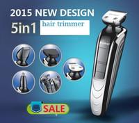 saç kesimi kitleri toptan satış-En kaliteli makası trimer tıraş sakal düzeltici burun şarj edilebilir kesim saç kesimi aracı kiti saç tımar Su geçirmez Elektrikli adamı Kemei
