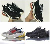 Wholesale Fashion Men S Casual Shoes - 2017 Retro BL Triple S Sneakers for men women Kanye West Old Grandpa Trainers casual shoes Professional Sneaker fashion shoe outdoor no logo
