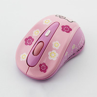 Wholesale Girl Hello - Girls Cute Hello kitty Wireless mouse with 2.4G USB receiver Wireless Optical Mice with adjustable 800-1200 DPI function, dandys