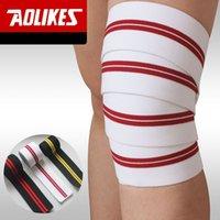 Wholesale Leg Compression Wrap - 2M*7.5CM Powerlifting Elastic Bandage Leg Compression Calf Knee Support Wraps Sports Safety