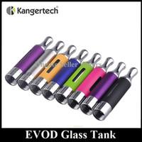 atomizador glassomizer al por mayor-Auténtico Kanger EVOD Atomizador de vidrio 1.5 ml Parte inferior Doble bobina Colorido KangerTech Mejorado Glassomizer Tank En stock