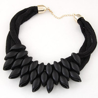 Wholesale Exaggerated Bib Necklace - Bib Necklace For Women Collares Choker Necklace Exaggerated Statement Necklace Women Weaving Geomertric Necklaces & Pendants