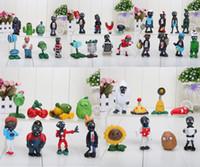 conjuntos de juguetes de plantas vs zombies al por mayor-Plants vs Zombies Figura de acción 2.5-6.5cm PVZ 40pcs / set Colección Figuras Juguetes Regalos planta