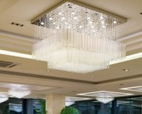 Wholesale Cascading Led Lights - Free shipping new Cascading ceiling chandelier crystal luxury hotel lobby chandelier modern project lighting