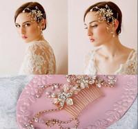 Wholesale Tiaras Hair Jewelery - 2016 Gorgeous Bridal Crown Bridal Tiara Wedding Jewelery Bohemia Hair Accessories Elegant Headpieces Frontlet Hair Band headbands for Bridal