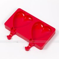 Wholesale Popsicle molds of Silicone heart type just to enjoy DIY icepop quality ensuring and easy to clean