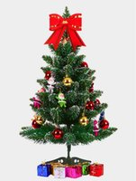 Wholesale free office package - artificial christmas trees 60cm 23.6 inch christmas tree table with 6 packages decoration for home and office decoration free shipping CT001