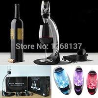 Wholesale Led Wine Aerator - High quality Magic LED Decanter Wine Aerator Set Red Wine Aerator Y688 Free Shipping Nkc1zV