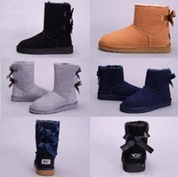 Wholesale Girl Knee High Boots Snow - High Quality New WGG Women's Australia Classic kneel Boots Ankle boots Black Grey chestnut navy blue Women girl boots US 5--10