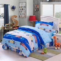 children kids racing car comforter bedding sets home textile 100 cotton twin size bed linens with duvet quilt doona cover flat sheet 3 4pc dropshipping uk