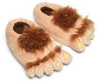Wholesale Vintage Toe Rings - The Lord of the rings Fashionable and cool Christmas gift - vintage wild man slippers hobbit-toe household cotton slippers with heels