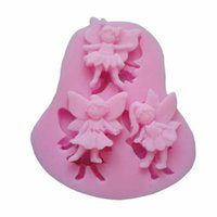 Wholesale Aluminum Hot Coffee - Delicate 3D Angel Modeling Silicone Fondant Cake Molds Soap Chocolate Mould Hot Selling
