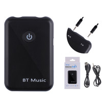 Wholesale adapter transmission - Bluetooth V4 Transmitter Receiver in Wireless mm AUX Audio Adapter APT X HD Sound Quality Lossless Transmission For Smart Phones