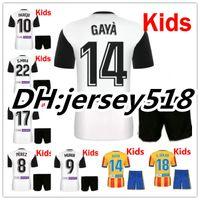 Wholesale Quality Children - 17 18 valencia kids Soccer Jersey kits best quality 2017 2018 valencia cf Home NANI PAREJO MUNIR GAYA C.Soler Children Football Shirt