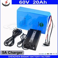 Wholesale Building Electric - Lithium Rechargeable Battery 60V 20Ah Electric Bike Battery 60V For 2000W Motor With 5A Charger Built-in 50A BMS Free Shipping