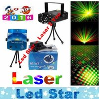 Wholesale Disco Uk - Mini Voice Automatic Play Laser Lights Lighting Projector Disco DJ Stage Xmas Party Show Club Star Bar + Tripod + EU AU US UK Plug