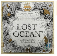 Wholesale Free Coloring Kids - Newest lost ocean Coloring Book An Inky Quest Coloring Book by Johanna Basford Christmas Toy Gifts presents Free Shipping R1507