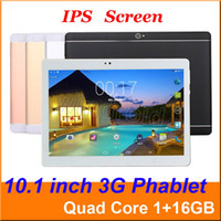 Compra Dual Phablet Tablet Tablet-10 10.1 pollici MTK6582 Quad Core 3G Android 5.1 telefono Tablet PC 1GB RAM 16GB ROM Bluetooth GPS IPS 1280 * 800 WiFi phablet Doppia SIM sbloccato 10