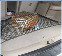 Wholesale Trunk Storage Net - Flexible Car Trunk Black Nylon Net +Mounting Kit Rear Storage Cargo Organizer Brand new and high quality